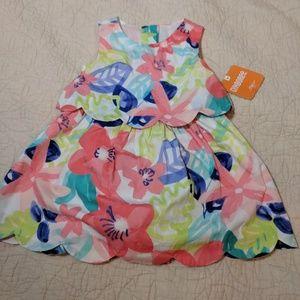 NWT Floral Coral Gymboree dress 6 -12 months